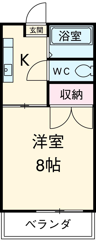 コーポ川島第3 103号室の間取り