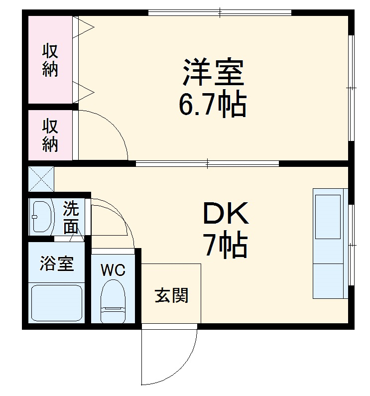 宮本アパート・202号室の間取り