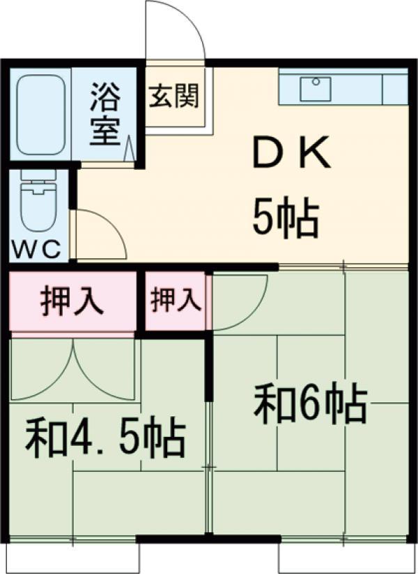 鎌ヶ谷コーポ・202号室の間取り