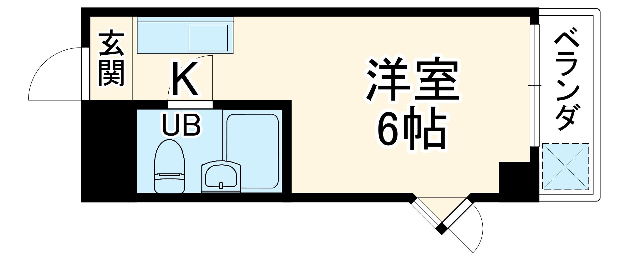 ビラ三秀植田・201号室の間取り