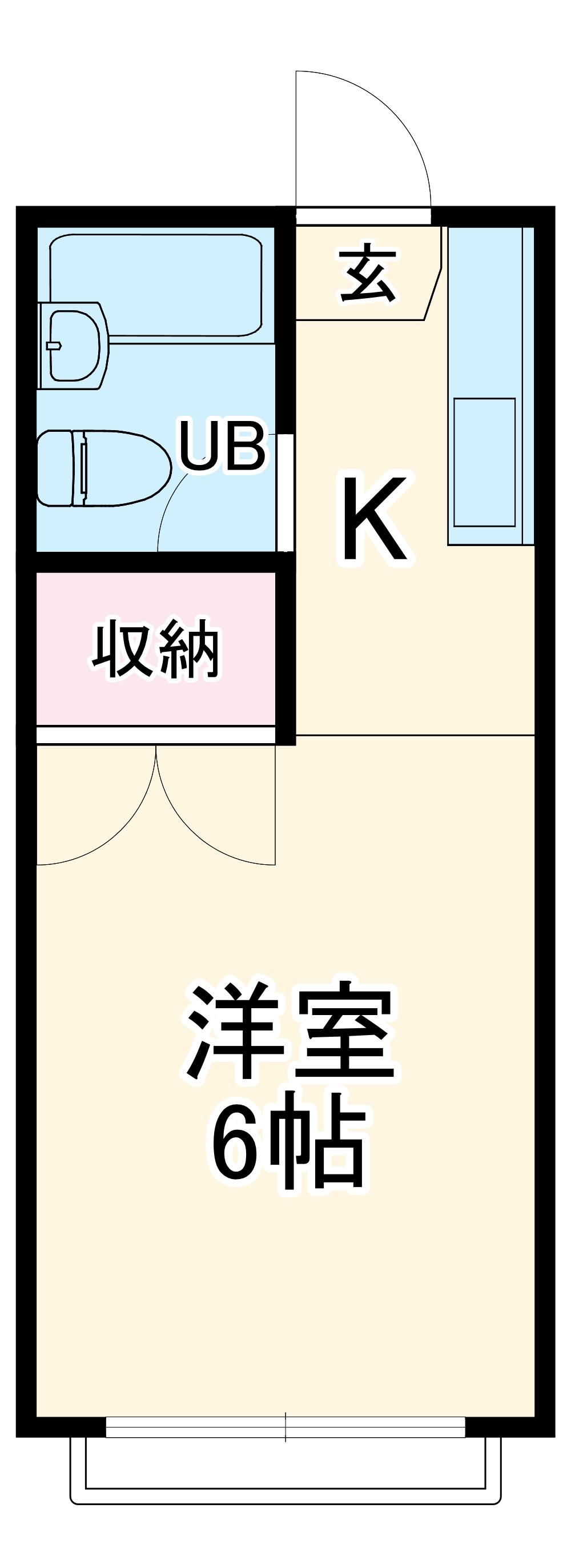 カルチェ大和田・202号室の間取り