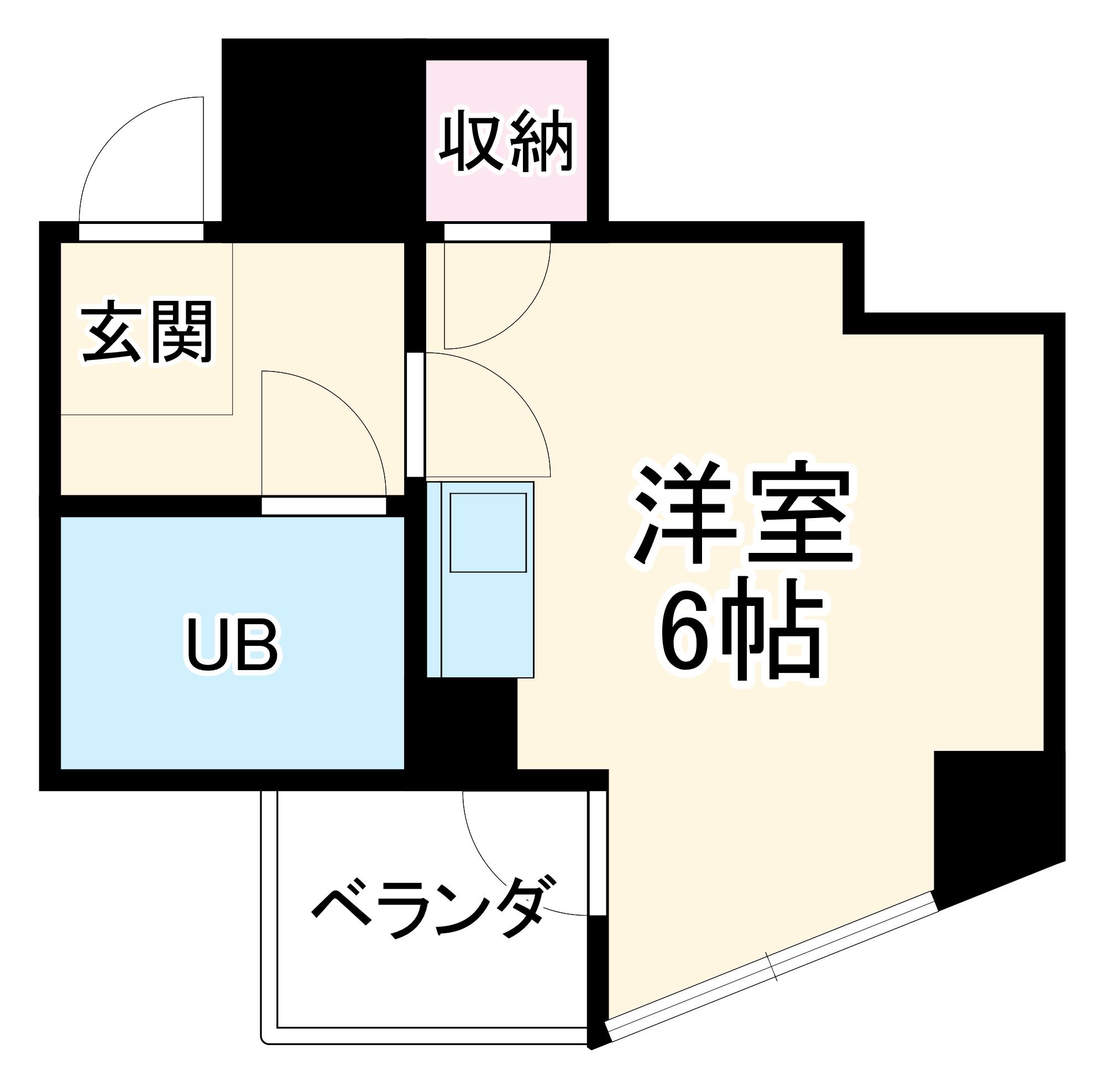 カルダモモ八事タワー 602号室の間取り