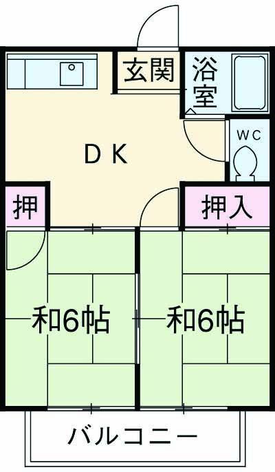 和田ハイム・102号室の間取り