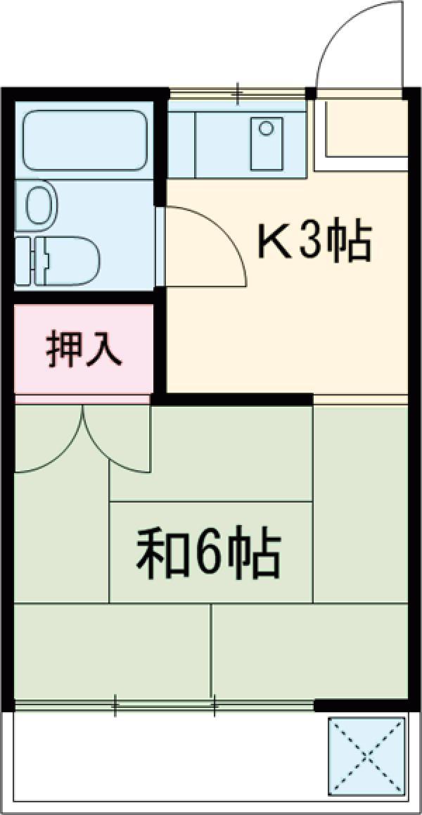 竹内コーポ 201号室の間取り