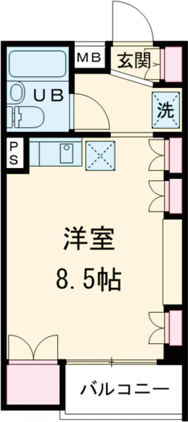 SOCIETY桜新町・302号室の間取り