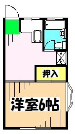 コーポトムラ 101号室の間取り