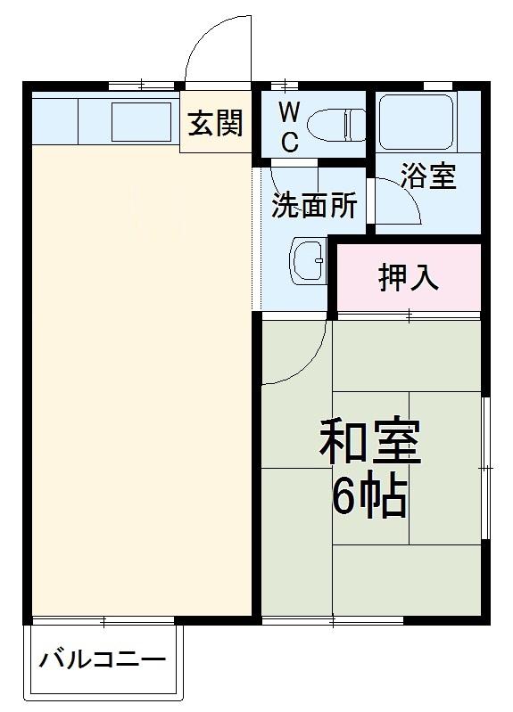 コーポミユキ・203号室の間取り