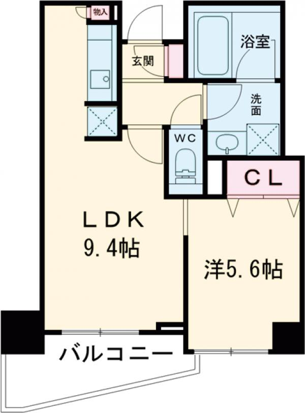 クリオ上野毛ラ・モード・705号室の間取り