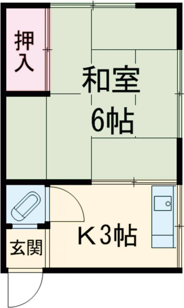 高木荘・10号室の間取り