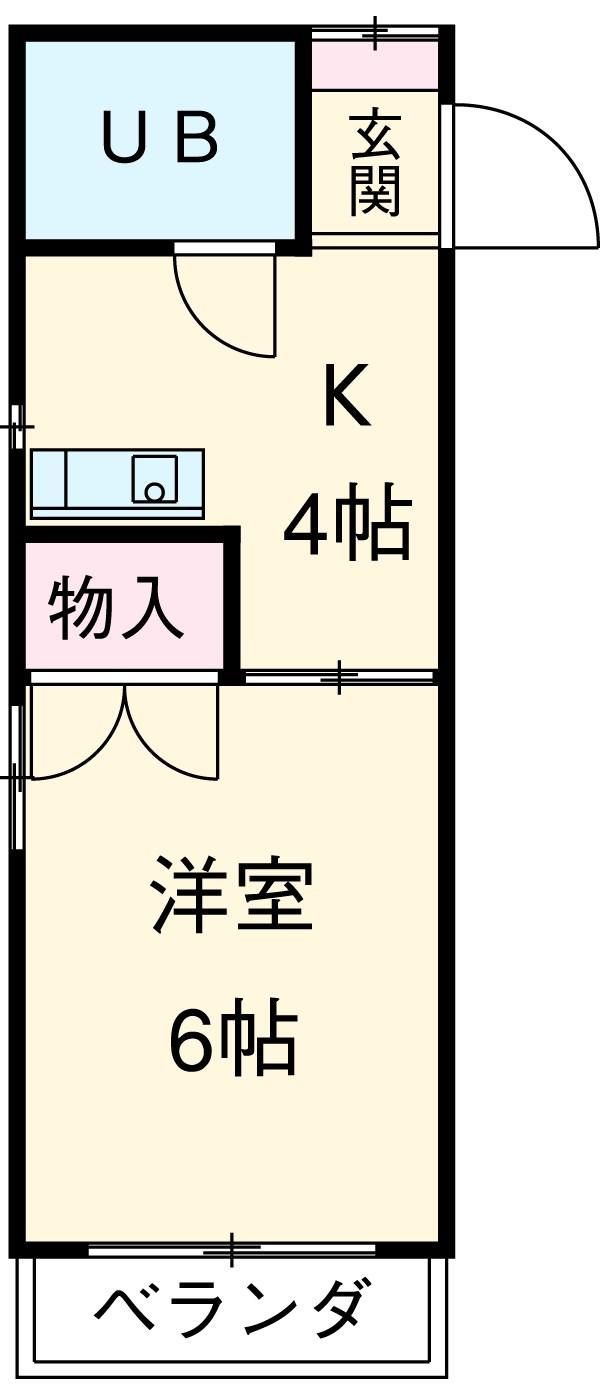 小澤マンション・406号室の間取り