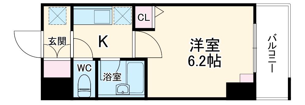 スペーシア堀田・507号室の間取り