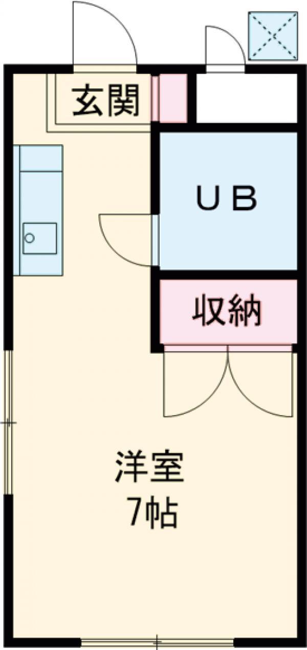熊谷マンション・101号室の間取り