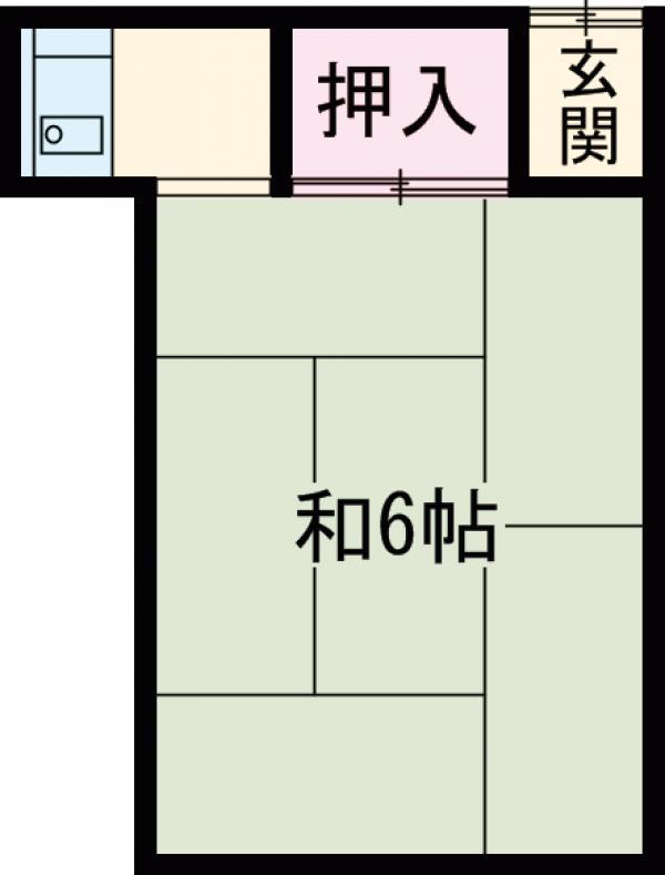 小澤アパート・5号室の間取り