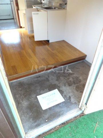 松籟荘 C号室の玄関