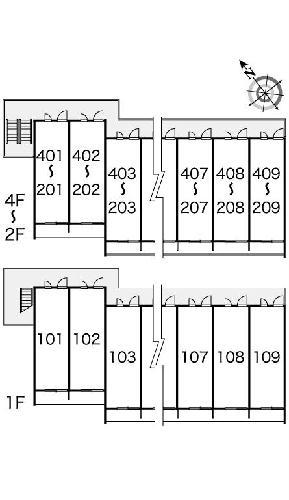 レオパレスバローネⅡ 407号室の風呂