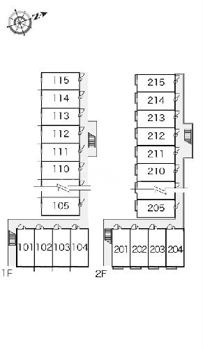 レオパレス蒲郡 212号室の駐車場