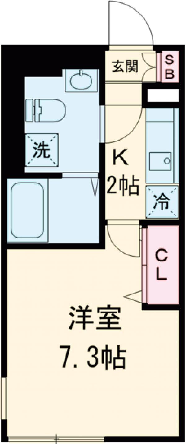 NOZOMIO PREMIER三軒茶屋・405号室の間取り