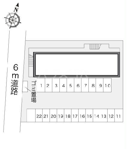 レオパレス中野川 101号室の駐車場