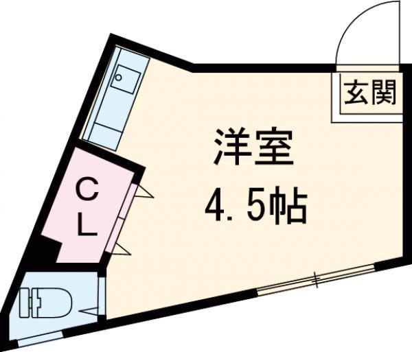 第2清水ビル 202号室の間取り