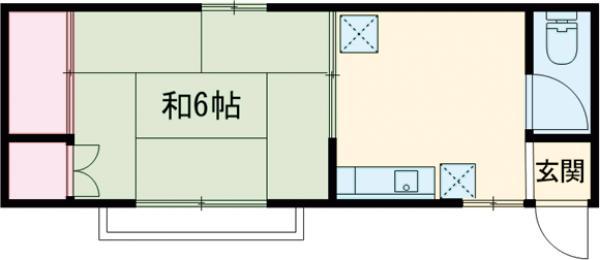 萩原荘 2F号室の間取り
