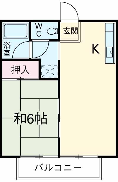 ビレッジ桜ヶ丘・203号室の間取り