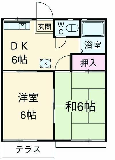 ファミーユ津田沼A棟 102号室の間取り