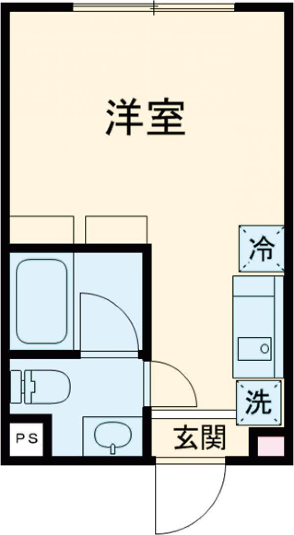 Reco桜新町・301号室の間取り