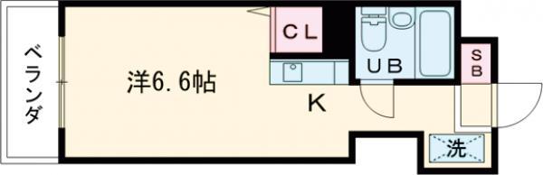 プロムナード三軒茶屋・207号室の間取り
