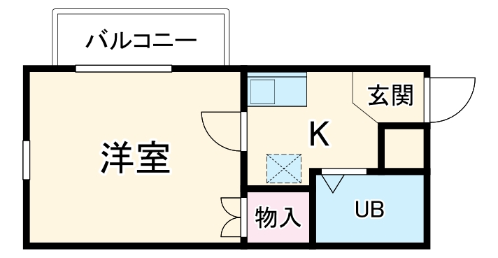 RX豊田 205号室の間取り