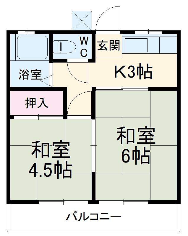 第一持田ホーム・103号室の間取り