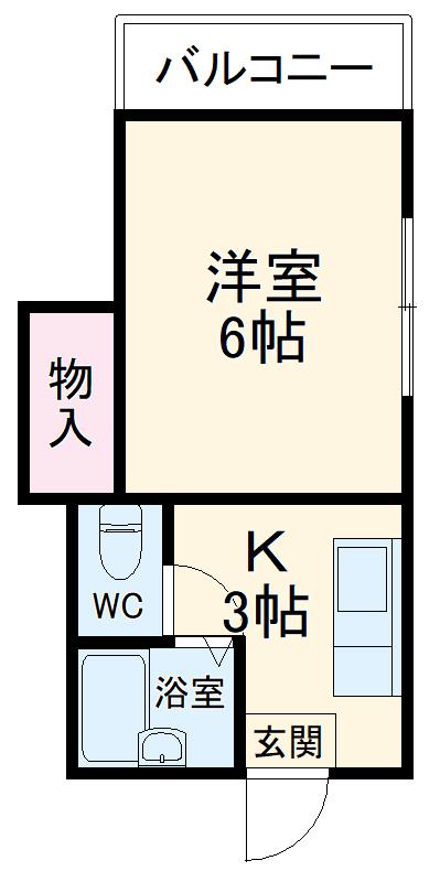サニーライフ小川2・01020号室の間取り