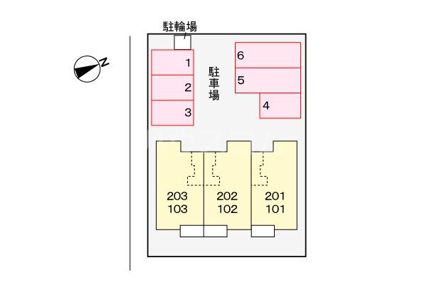 ライグッド Ⅰ 01010号室の駐車場