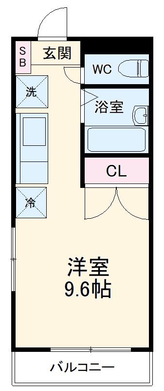 REALJOY薬円台五番館・106号室の間取り