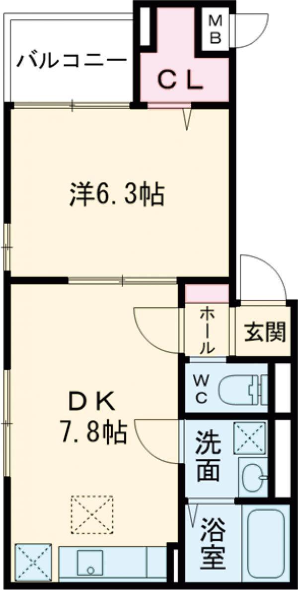Y house(ハウス・01020号室の間取り