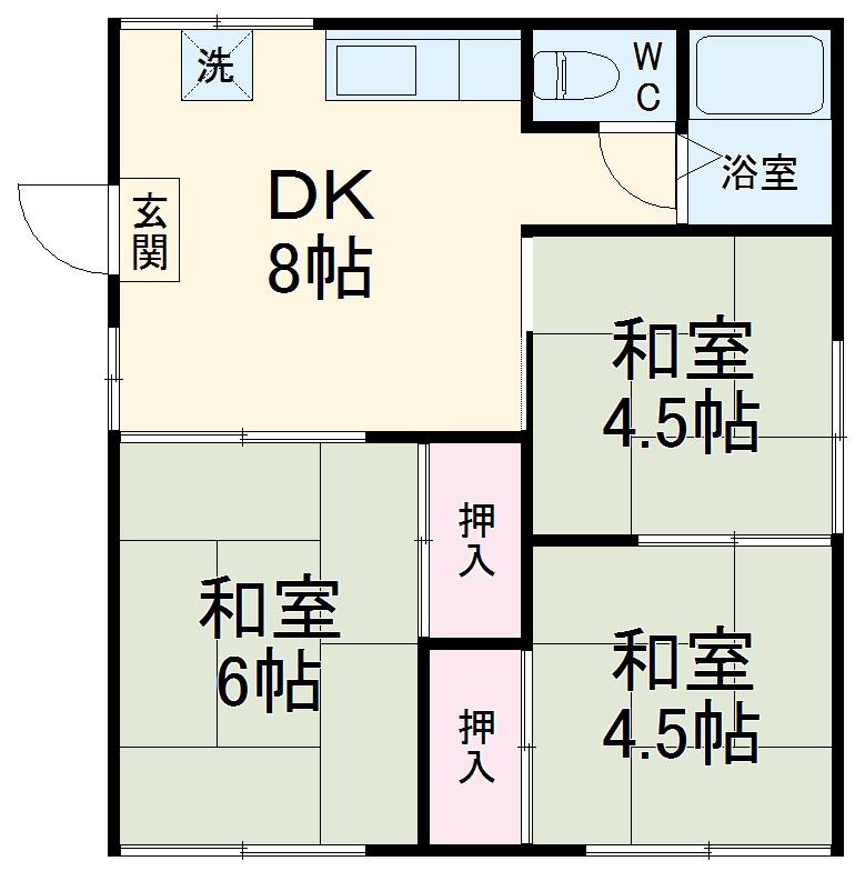 小沢ハウス 2F号室の間取り
