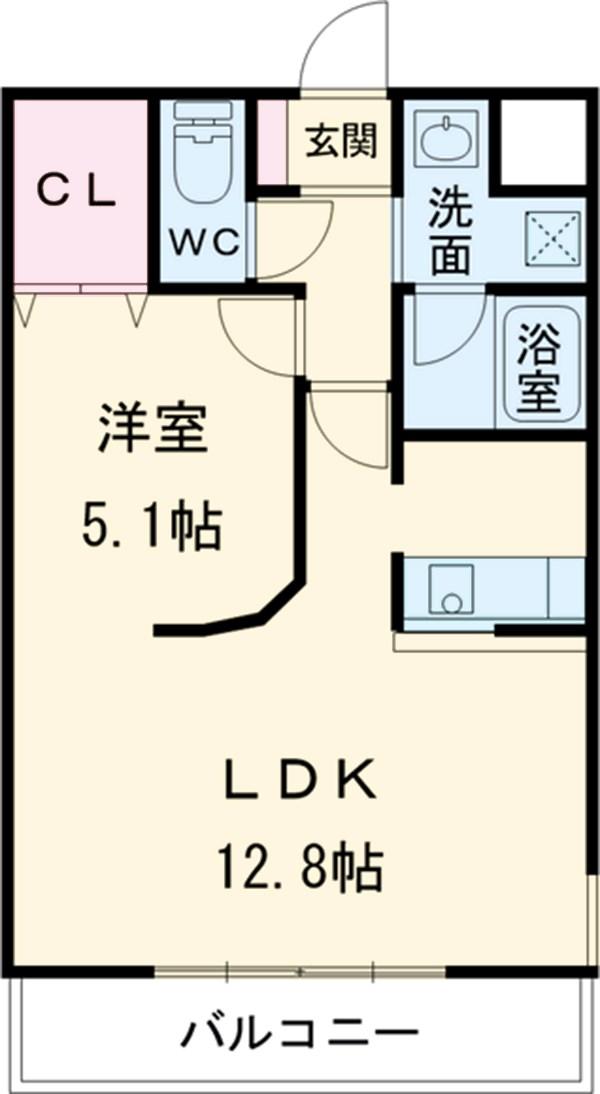ガーデンコートHISOKO 102号室の間取り
