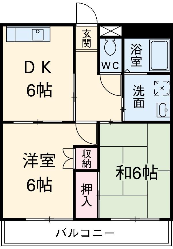 センチュリーナカシマ・203号室の間取り
