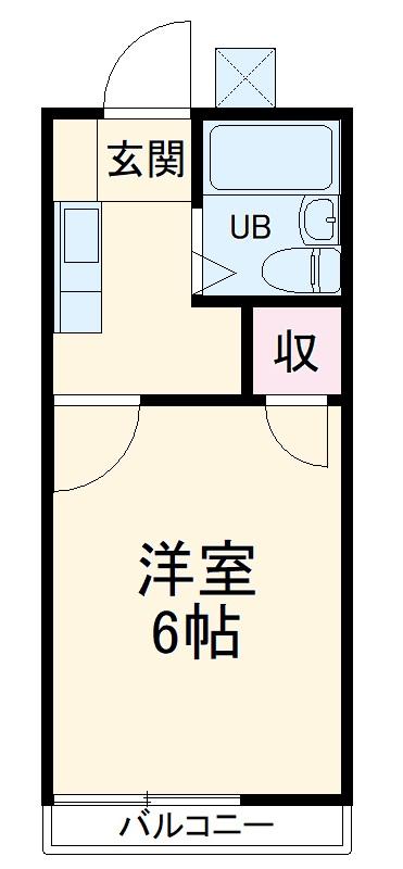 コーポ新栄B 105号室の間取り