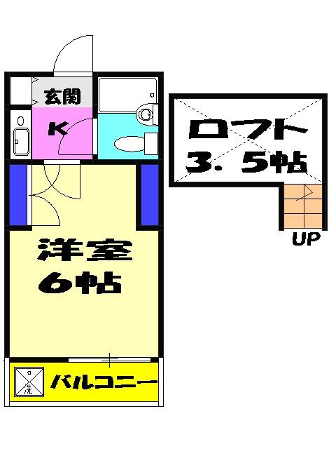 ジュネパレス津田沼第22・105号室の間取り