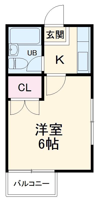 ハウスピアヤマモト 203号室の間取り
