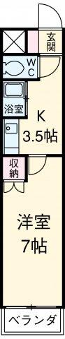 アイルーム豊田永覚Ⅱ 202号室の間取り