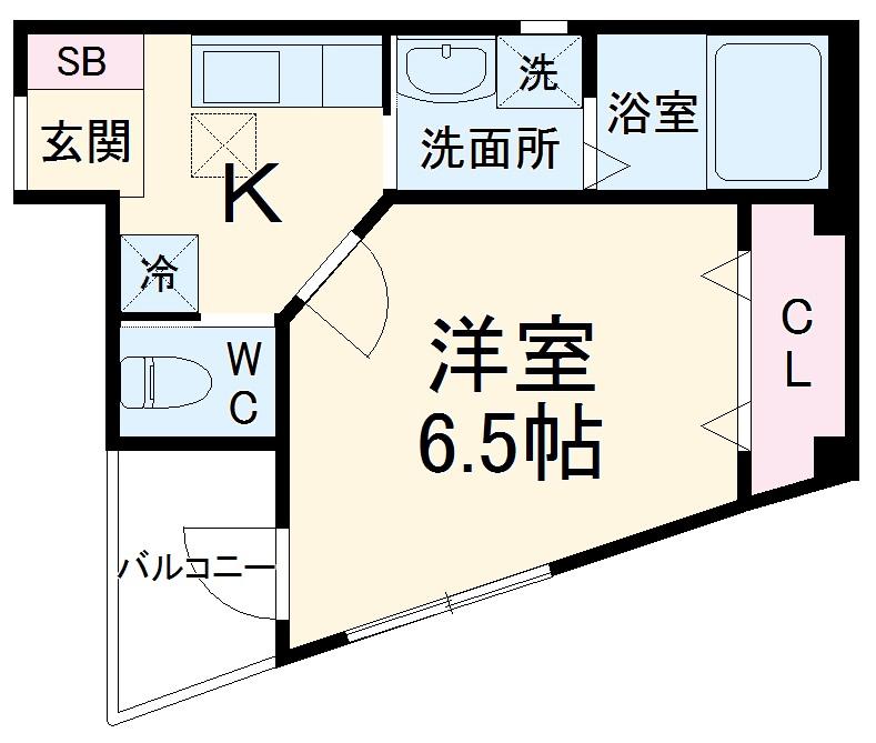 NARASHINO BASE 205号室の間取り