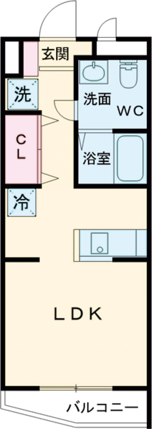 ピースコート成城学園前・104号室の間取り
