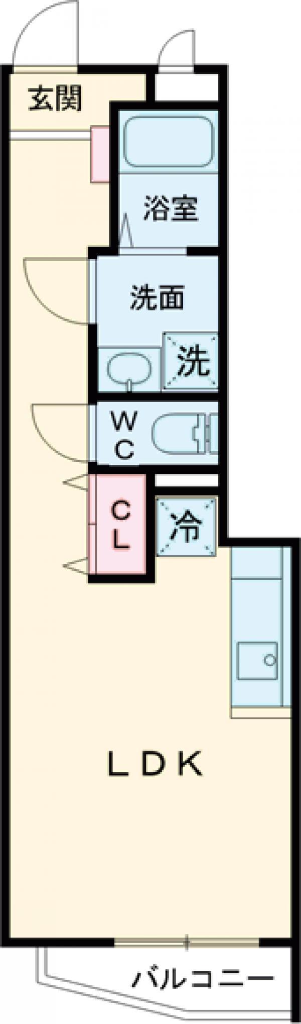 ピースコート成城学園前・105号室の間取り