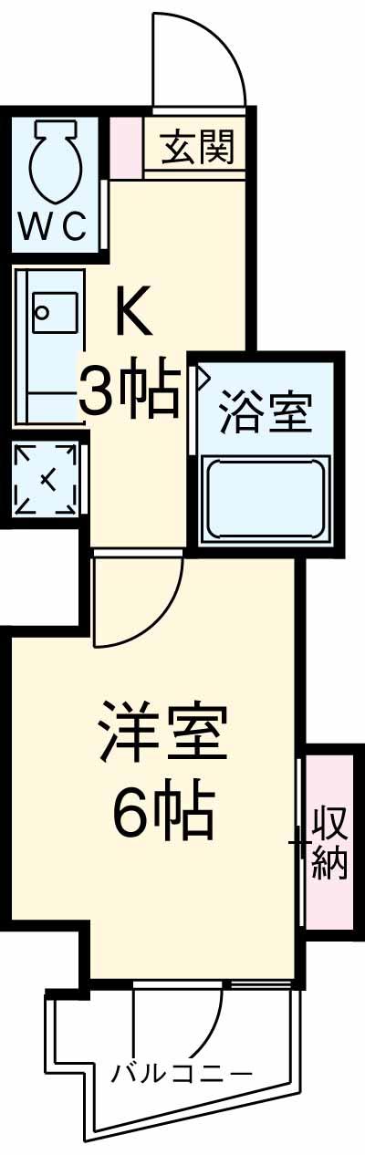 スカイコート駒沢大学 802号室の間取り