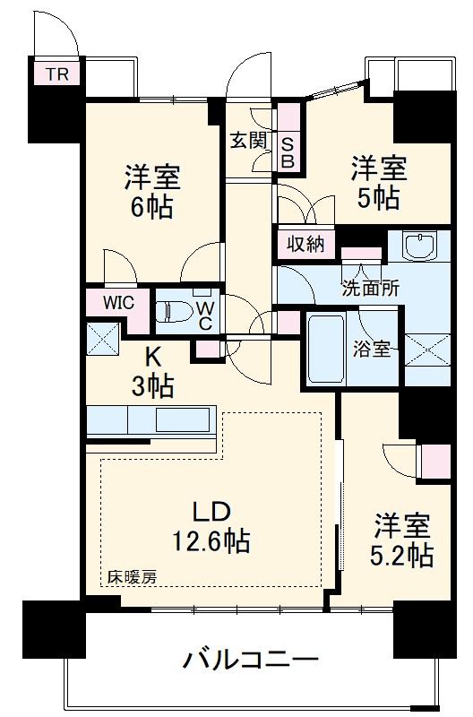 津田沼ザ・タワー 3906号室の間取り