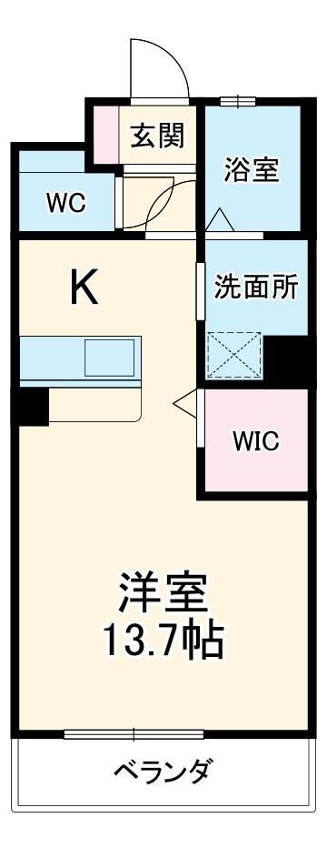 レジデンス幸田駅前 101号室の間取り