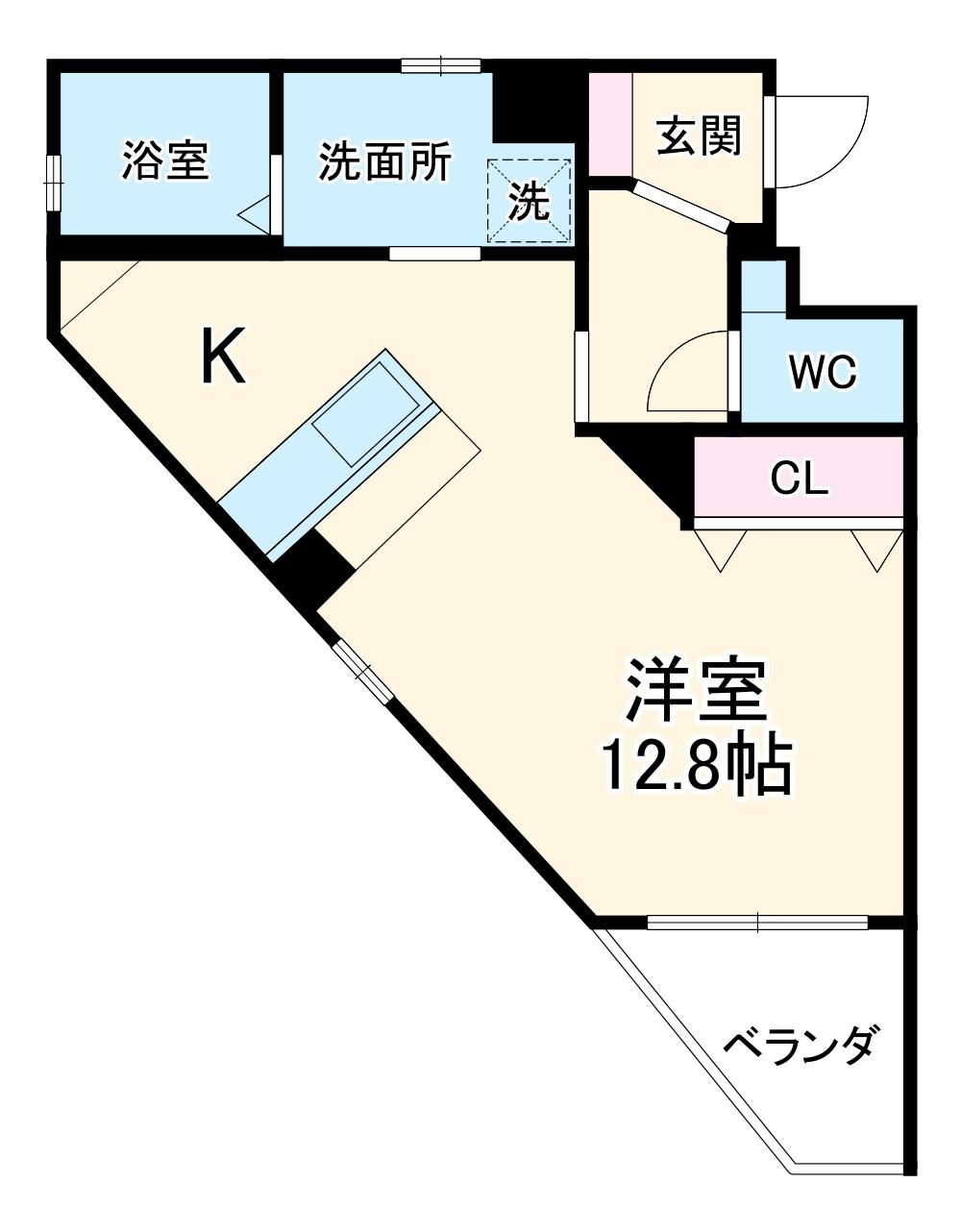 レジデンス幸田駅前 104号室の間取り