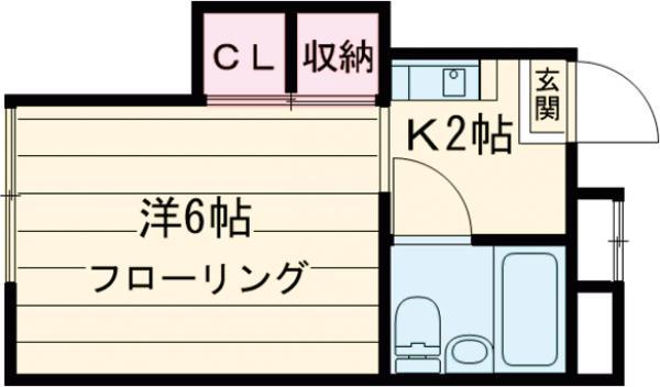 第二早川コーポ 222号室の間取り