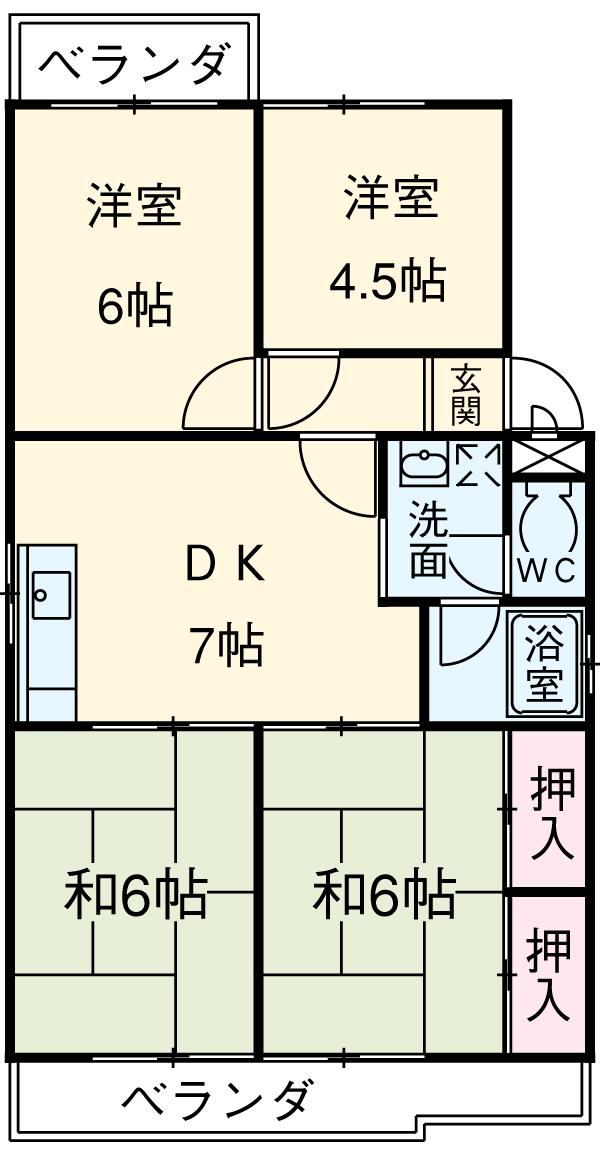 第2マンション鈴木 A-4号室の間取り